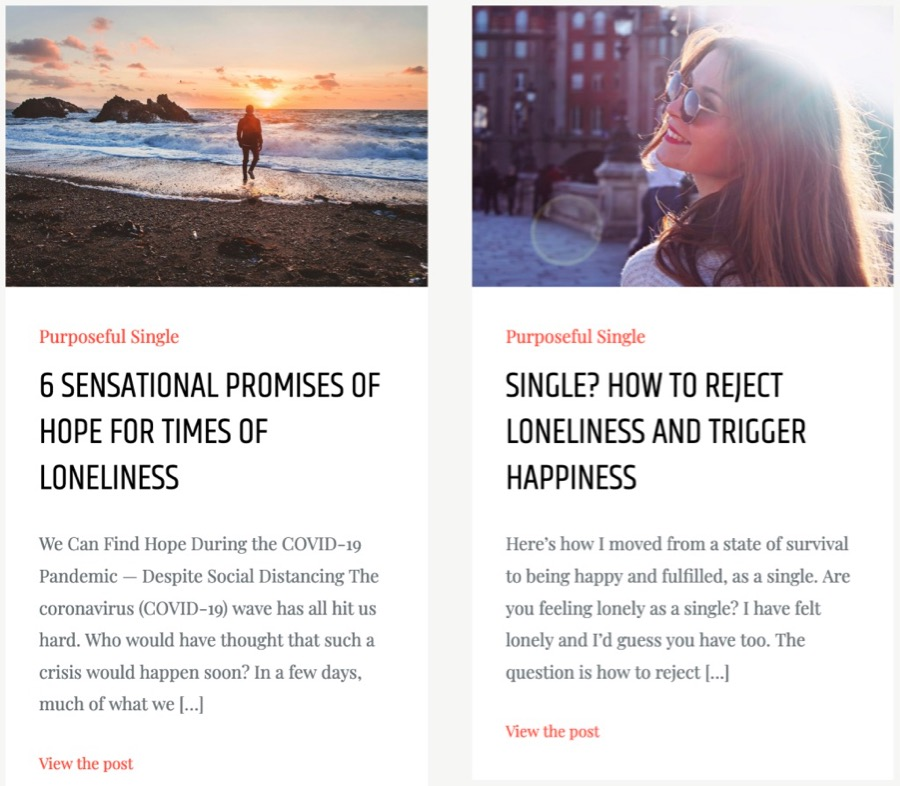 Find inspirational articles on the  Singleinfluencer blog